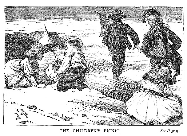 Picnic Historical Children's Book Illustration