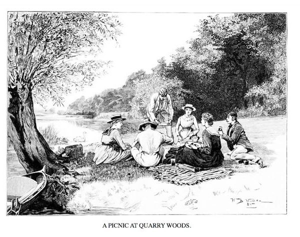 Picnic Historical Victorian England illustrations