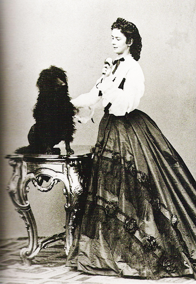 Empress Sisi and dog circa 1864